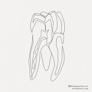 abstract-line-tooth-tattoo-minimal-design