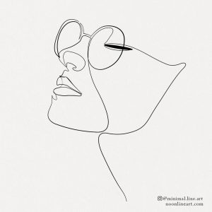 abstract-woman-face-line-art-tattoo-minimalist-design