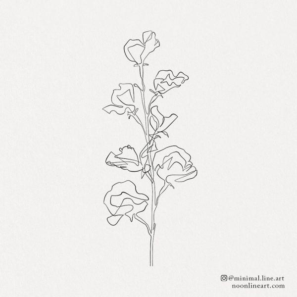 floral-line-tattoo-design