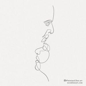 forehead-couple-kiss-line-art-tattoo-design