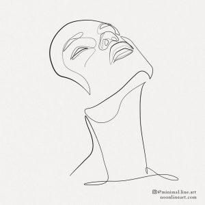 minimalist-woman-face-line-art-tattoo-design-illustration