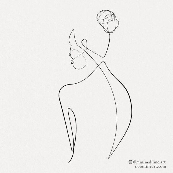 minimalist-woman-line-art-tattoo-sketch