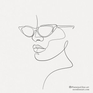 one-line-fashion-face-figure-with-sun-glasses-tattoo-design