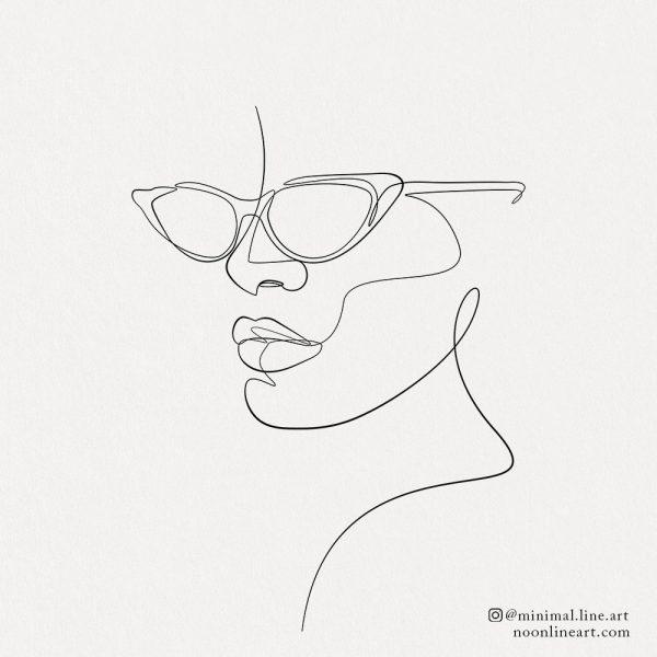 one-line-fashion-face-figure-with-sun-glasses-tattoo-design