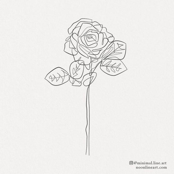 one-line-rose-tattoo-minimal-art-floral