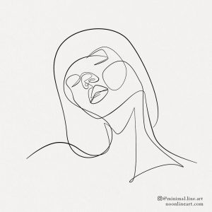 simple-line-tattoo-of-woman-face-drawing