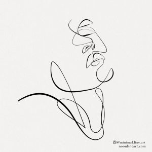 simple-one-line-tattoo-of-woman-face