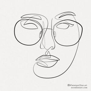 woman-line-art-glasses-tattoo-art-design