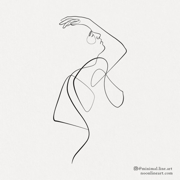 woman line tattoo body figure