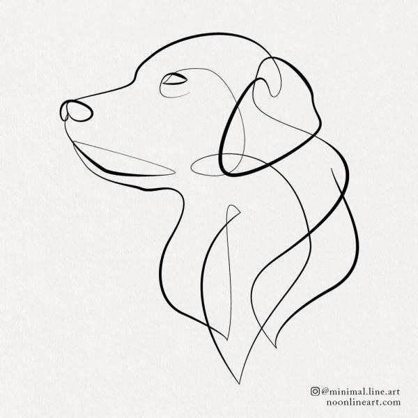 golden labrador retriever dog tattoo